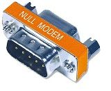Null Modem Adaptor DB9 Male to Female