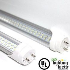 4ft 22W LED Linear Tube - 6000K - Clear - (UL)