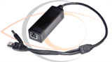 DC 12V Single Ethernet Port 10 100M PoE Splitter Cable