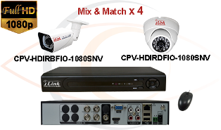 CCTV HD Security Camera System Tribrid 1080p Standalone 4 Port DVR with 1080p HD Coax Cameras