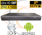 IP Security Camera NVR 5MP Standalone 16 Port